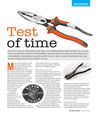 Klein Tools in Professional Electrician Magazine