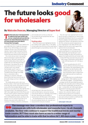 Electrical Wholesaler Industry Comment